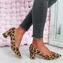 Nya Tiger Block Heel Pumps