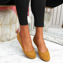 Evera Camel Slip On Ballerinas