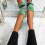 Evera Green Slip On Ballerinas
