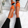 Evera Orange Slip On Ballerinas