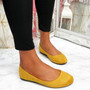 Evera Yellow Slip On Ballerinas