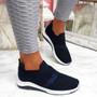 Goppa Dark Blue Studded Sneakers