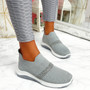 Goppa Grey Studded Sneakers