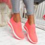 Goppa Fuchsia Studded Sneakers