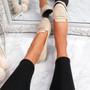Oze Beige Flat Ballerinas