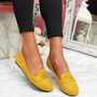 Oze Yellow Flat Ballerinas
