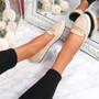 Mero Beige Flat Ballerinas