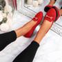 Mero Red Flat Ballerinas