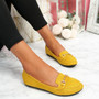Mero Yellow Flat Ballerinas