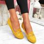 Mero Yellow Flat Ballerinas