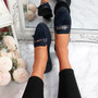 Veny Dark Blue Fringe Ballerinas