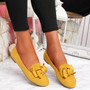 Vinny Yellow Bow Flat Ballerinas