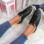 Nivy Black Lace Up Trainers