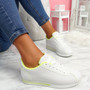 Nivy Yellow Lace Up Trainers