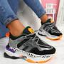 Logy Black Chunky Sneakers