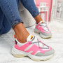 Fony Pink Chunky Trainers