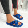 Piva Blue Flat Sandals