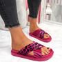 Piva Fuchsia Flat Sandals