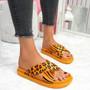 Piva Orange Flat Sandals