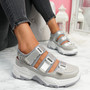 Zyga Grey Chunky Trainers