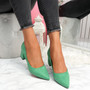 Offie Green Court Pumps