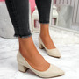 Offie Beige Court Pumps