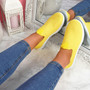 Nugga Yellow Slip On Trainers