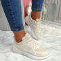Bimma Beige Lace Up Trainers