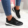 Bimma Black Lace Up Trainers