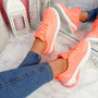 Bimma Peach Lace Up Trainers