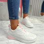 Bimma White Lace Up Trainers