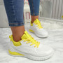 Bimma Yellow Lace Up Trainers