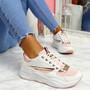 Kitta Pink Chunky Sneakers