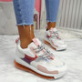 Rety White Pink Clear Sole Trainers