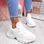 Levve White Mesh Chunky Sneakers