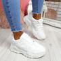 Kipzo White Pu Chunky Sneakers