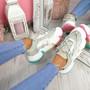 Lizza Green Rainbow Sole Chunky Trainers