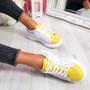 Jumma Yellow Lace Up Trainers