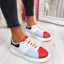 Jumma Red Lace Up Trainers