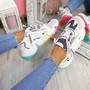 Kollya White Rainbow Sole Chunky Trainers