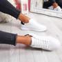 Minno White Black Lace Up Trainers