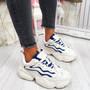 Evin Beige Chunky Trainers