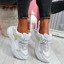 Liva White Grey Chunky Sneakers