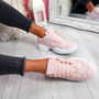 Nizzo Pink Lace Up Chunky Trainers