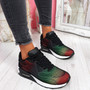 Paddo Black Dark Green Rainbow Trainers