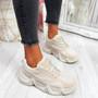 Velsa Stone Beige Chunky Sneakers