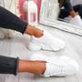 Velsa White Pu Chunky Sneakers