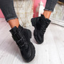 Sally Black High Top Trainers