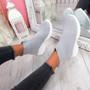Mimi Grey Knit Sock Sneakers