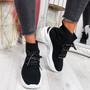 Erika Black Sock Trainers